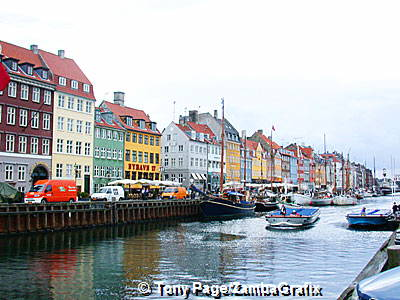 Nyhavn canal was dug 300 years ago to allow traders to bring their wares into the heart of the city. Copenhagen, Denmark