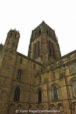 The ribbed vaults above the nave was one of the first achievenments of Gothic architecture [Durham Cathedral - England]