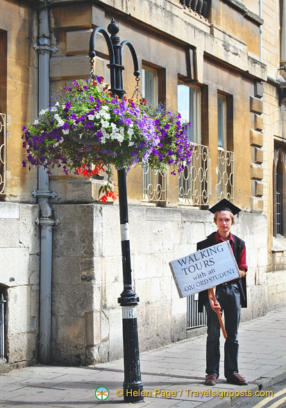 Go on a walking tour with an Oxford student