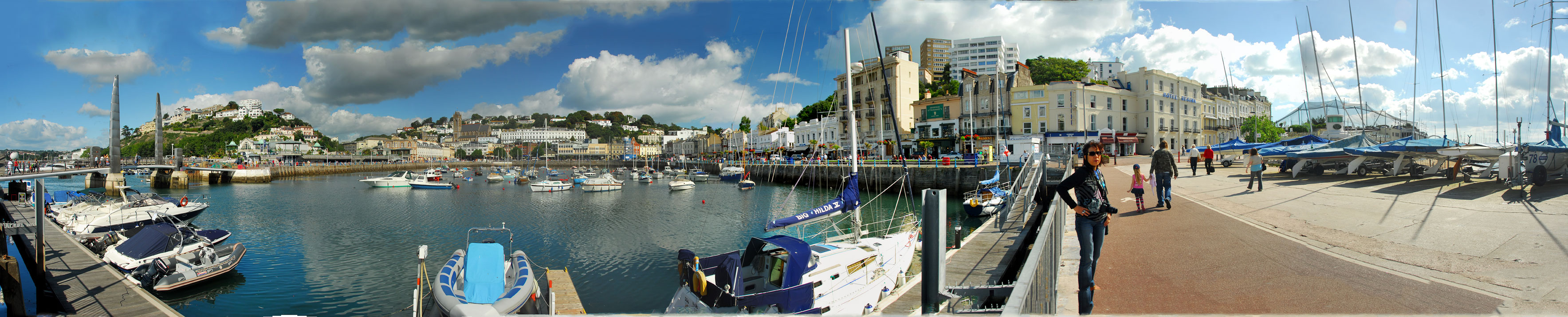 A panorama of Torquay seafront