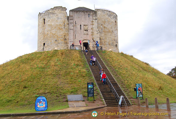 For a panoramic view of York, climb to the top of Clifford's Tower