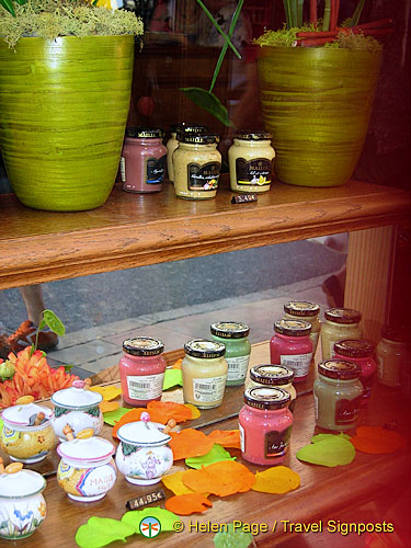 Jars of Dijon mustard