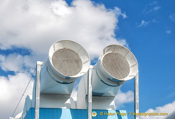 Ventilation shafts .. or a pair of giant binoculars!