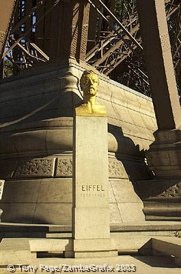 Memorial to Gustave Eiffel outside his tower