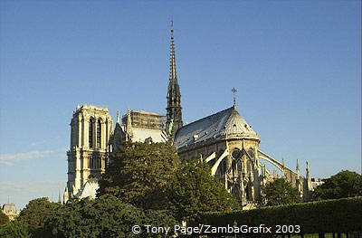 Notre-Dame as viewed from the east