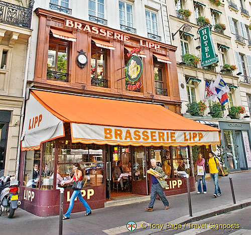 Brasserie Lipp, popular with politicians, artists and those in the literary world