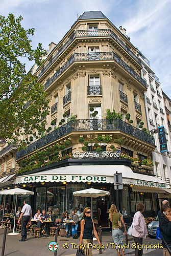 Café de Flore at 172 Boulevard Saint-Germain