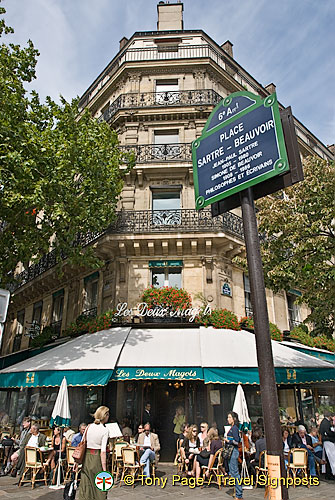 Les Deux Magots on Place Saint-Germain des Pres