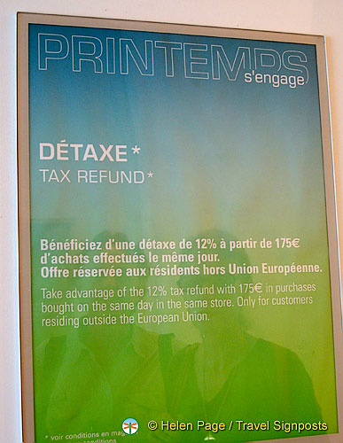 Explanation about de taxe