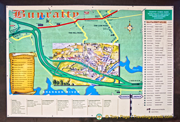 Map of Bunratty Folk Park