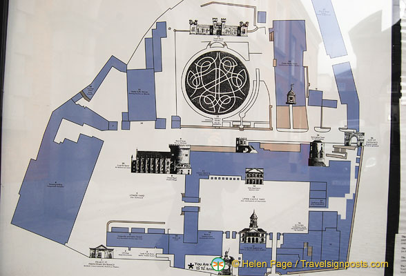 Plan of Dublin Castle and grounds