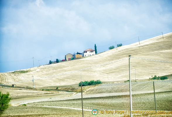 The slopes of Val d'Orcia