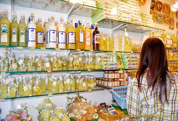You can buy Limoncello in the shops on via Marina Grande