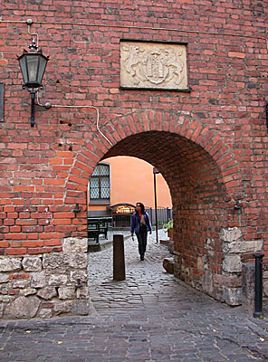 The picturesque Swedish Gate was built onto the city wall in 1698