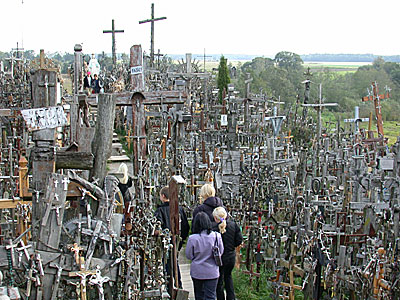 The 'Hill of Crosses' is a place of national pilgrimage