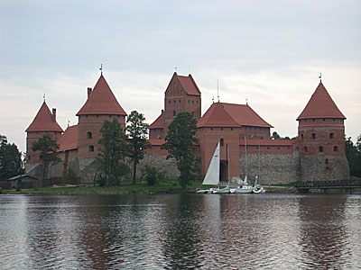 View of Trakai Island Castle