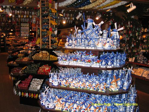 Gift shop bursting with souvenirs and foodstuff