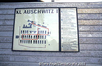 Floor plan of Auschwitz I concentration camp