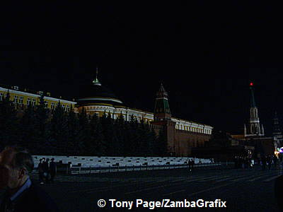 Red Square in the dark