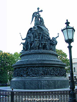 Bronze monument to the Millenium of Russia