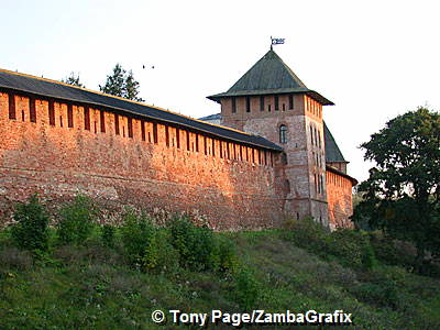 The Detinets - ancient wall and tower of the Novgorod Kremlin