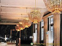 Beautiful chandeliers in the Gustav Mahler Saal