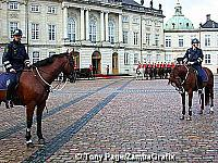 Amalienborg Palace - home of the Danish royal family since 1794