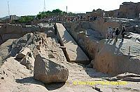 This gigantic obelisk dating back to the New Kingdom era and was abandoned when a crack was noticed along its body.