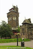 The Clock Tower was built on the foundations of a Roman bastion at the South West angle of the medieval curtain wall