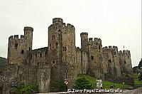 The Castle guards one of the best-preserved medieval fortified towns in Britain