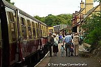 The railways enabled crowds of workers to visit the area - Haverthwaite Steam Railway