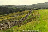 The 73 miles long Hadrian Wall