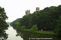 View of cathedral from the river [Durham - England]
