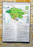 Glastonbury Abbey Map