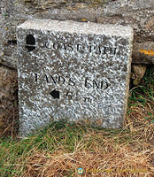 Land's End Coastal Path marker