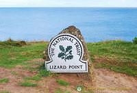Lizard Point - National Trust marker
