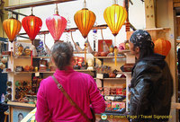 Camden Markets - Colorful silk lanterns
