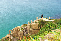 Steps down to the Minack Theatre