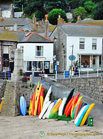 Water sports is popular in Mousehole