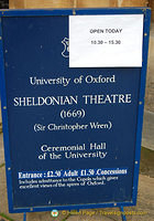 Opening Times for the Sheldonian