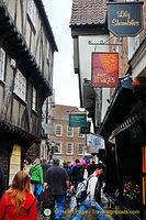 The Shambles is one of the best-preserved medieval shopping streets in Europe.