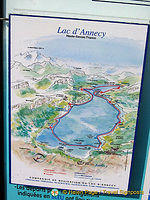 Map of Lake Annecy