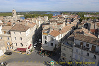 An aerial view of Arles