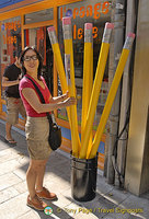 Giant pencils of Dijon
