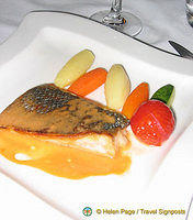 Fish with a Dijon sauce
