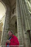 Alain, our guide, spins quite a tale - Mont-St-Michel [Mont-St-Michel - France]