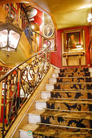 Staircase to upper dining rooms of Le Procope