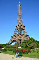 The Eiffel Tower on a beautiful summer's day