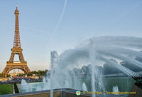The Eiffel Tower and the Fountain of Warsaw