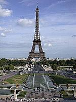 The Eiffel Tower as viewed from the Trocadero
